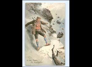 "XX14598/ Tuck`s Postcard ""In the Tyrol"" Tirol AK Jäger ca.1912"