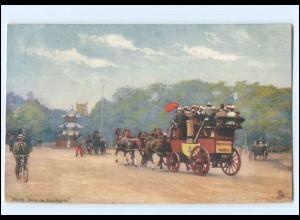 XX14618/ Tuck`s Postcard AK Villes de France - Paris Kutsche ca.1912