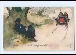 XX14607/ Tuck`s Postcard AK Ways of Motors Auto Polizei ca.1912