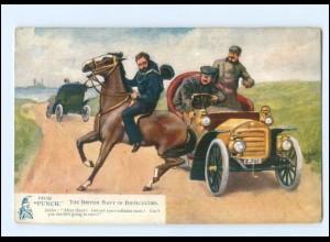 "XX14608/ Tuck`s Postcard AK Motoring Jokes from ""Punch"" Auto Pferd"