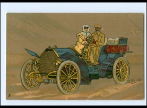 "XX14614/ Tuck`s Postcard schöne Litho AK ""Full Speed"" Auto ca.1910"