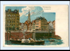 XX14586/ Hamburg Messberg Litho AK 1912