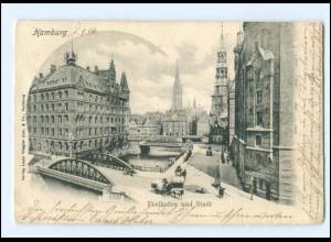 XX14587/ Hamburg Freihafen AK 1902