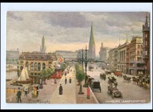 XX14615/ Tuck`s Postcard AK Hamburg Jungfernstieg ca.1910