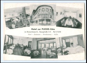 XX14631/ Bremerhaven Hotel zur Plesse-Ecke AK