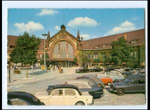 XX14627/ Osnabrück Bahnhof Autos AK 1964