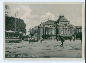 XX14619/ Hamburg Karl-Muck-Platz Straßenbahn AK ca.1940