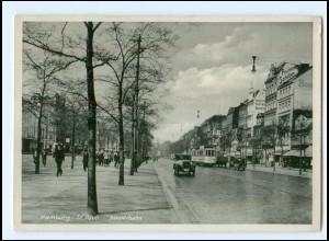 XX14620/ Hamburg St. Pauli Reeperbahn Straßenbahn AK 1934