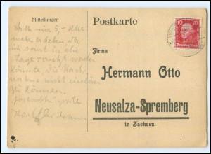 Y19958/ Hermann Otto Neusalza Spremberg Bestellkarte AK 1927