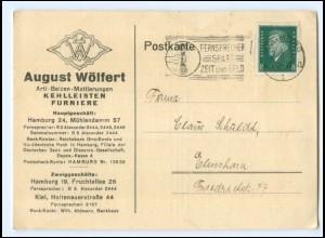 Y19957/ August Wölfert Kehlleisten Furniere Hamburg AK Rechnung 1931