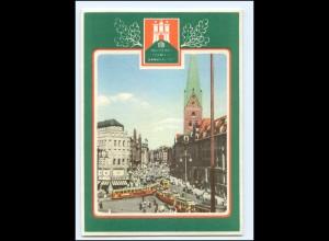 Y19960/ Hamburg Deutsches Turnfest 1953 + SST Straßenbahn AK