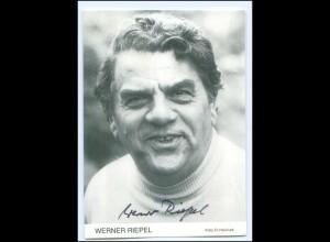 Y19965/ Werner Riepel Autogramm Ohnsorg-Schauspieler