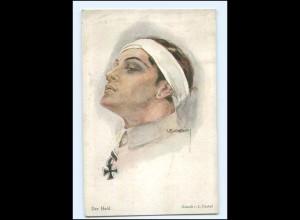 Y20019/ Künstler AK L. Usabal - Der Held verwundeter Soldat 1. Weltkrieg