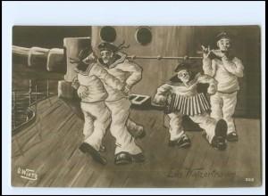 Y19976/ D. Wietz Marine Foto AK Matrosen Humor 1917