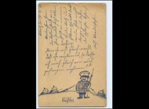 "Y19986/ 1. Weltkrieg Handgemalte AK ""Rußkie"" Feldpost 1915"