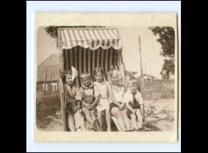 Y20095/ Kinder im Strandkorb Badeleben Privat Foto Scharbeutz-Haffkrug ca.1930