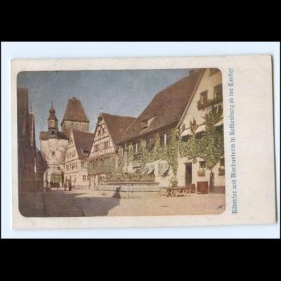 Y20099/ Rothenburg o. d. T. Farbaufnahme v. Dr. Benko, Deutscher Schulverein