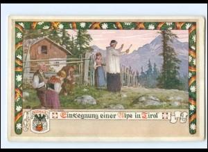 V1877/ Verlag des Vereines Südmark Nr. 166 AK Einsegnung einer Alpe in Tirol