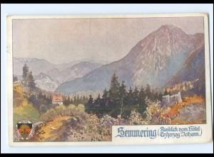 V1867/ Deutscher Schulverein AK Nr. 449 Semmering ca.1914