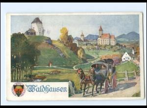 V1864/ Deutscher Schulverein AK Nr. 284 Waldhausen O.-Ö. Kutsche ca.1914