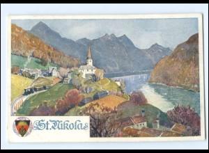 V1863/ Deutscher Schulverein AK Nr. 285 St. Nikola O.-Ö. ca.1914