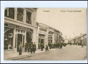 V1848/ Focsani Große Einigkeitsstraße Rumänien AK 1917