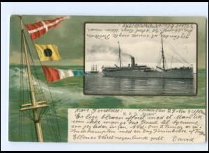 S2773/ R. P. Dampfer Bayern Nordd. Lloyd Litho AK 1904