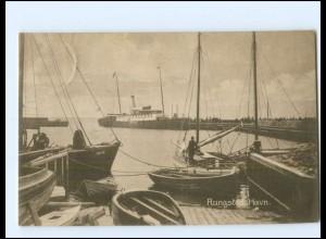 S2795/ Rungsted Havn Hafen AK Dänemark 1924