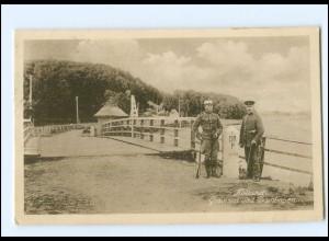 S2796/ Kollund Grenze Dänemark - Deutschland AK 1931