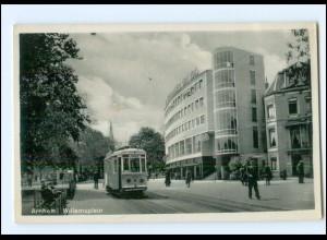 S2798/ Arnheim Willemsplein Straßenbahn AK ca.1935 Niederlande