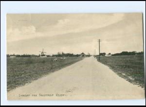 S2805/ Lyngby fra Trustrup Vejen Windmühle Dänemark AK 1918