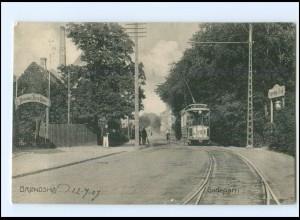 S2814/ Bröndshoj Straßenbahn Dänemark AK 1907
