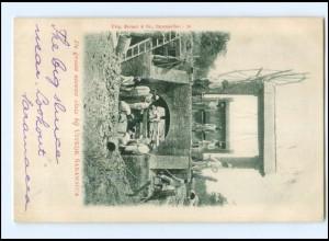 S2848/ Uitkijk Saramacca De groote nieuwe sluis , Surinam AK Niederl.-Indien