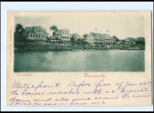 S2846/ Paramaribo Surinam Waterkant AK 1899 Niederl.-Indien