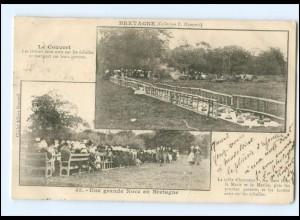 S2854/ Bretagne Collection E. Hamonic, Une grande Noce en Bretagne AK 1904