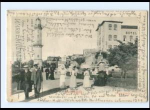 S2834/ Warnemünde Leuchtturm AK 1904