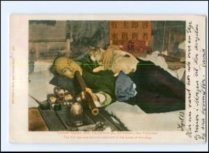 S2842/ San Francisco Chinatown Chinese Opium Den USA AK 1904