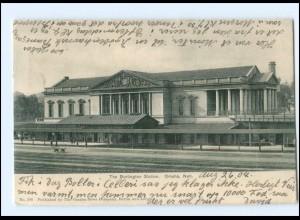 S2841/ Omaha Neb. The Burlington Station Bahnhof USA AK 1904