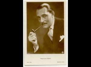 T1177/ Rauchen Schauspieler Warwick Ward raucht Pfeife Ross Foto AK ca.1935