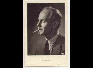 T1166/ Rauchen Schauspieler Hans Nielsen raucht eine Zigarette Foto AK ca.1938