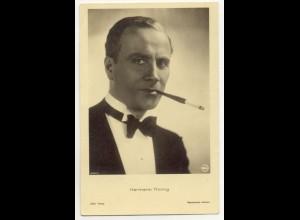 T1171/ Rauchen Schauspieler Hermann Thimig mit Zigarette Foto Ross AK ca.1940