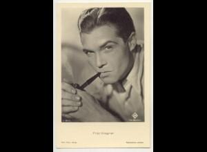 T1186/ Rauchen Schauspieler Fritz Wagner raucht Pfeife Foto AK ca.1940