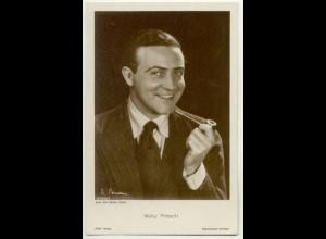 T1179/ Rauchen Schauspieler Willy Fritsch raucht Pfeife Ross Foto AK ca.1935