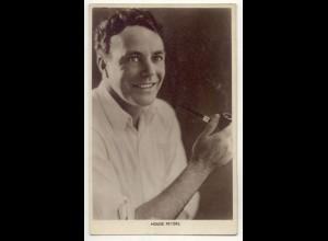 T1187/ Rauchen Schauspieler House Peters raucht Pfeife Foto AK ca.1925