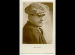 T1170/ Rauchen Schauspieler Willy Fritsch mit Zigarette Foto Ross AK ca.1935