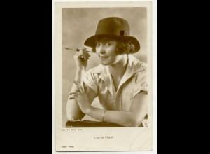 T1176/ Rauchen Schauspielerin Liane Haid mit Zigarette Foto AK ca.1935