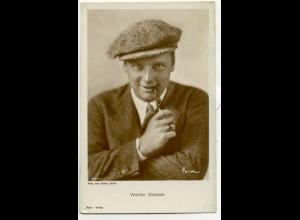 T1180/ Rauchen Schauspieler Walter Slezak raucht Pfeife Ross Foto AK ca.1935