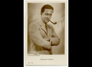 T1185/ Rauchen Schauspieler Alphons Fryland raucht Pfeife Ross Foto AK ca.1935