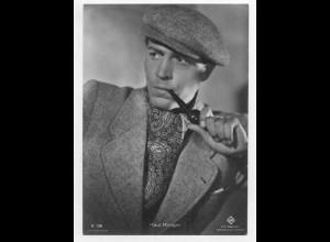 T1182/ Rauchen Schauspieler Paul Klinger raucht Pfeife Foto AK ca.1940