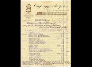 c489/ Briefkopf Rechnung Großkopf Bettfedern Osnabrück 1927